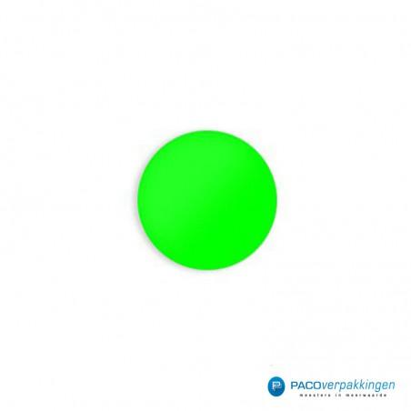Stickers rond - Fluor Groen Mat