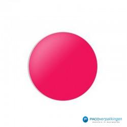Stickers rond - Fluor Roze Mat- Vooraanzicht