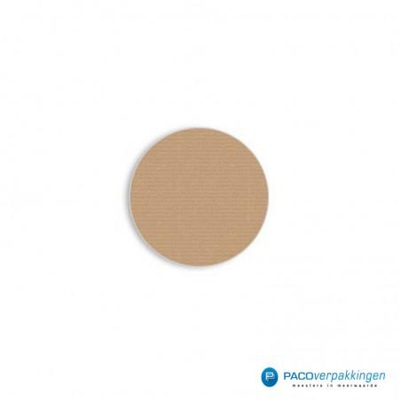 Stickers rond - Bruin Mat