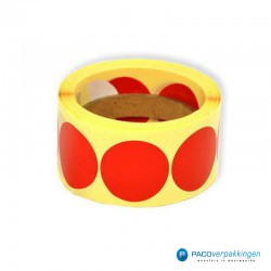 Stickers rond - Rood - Rol