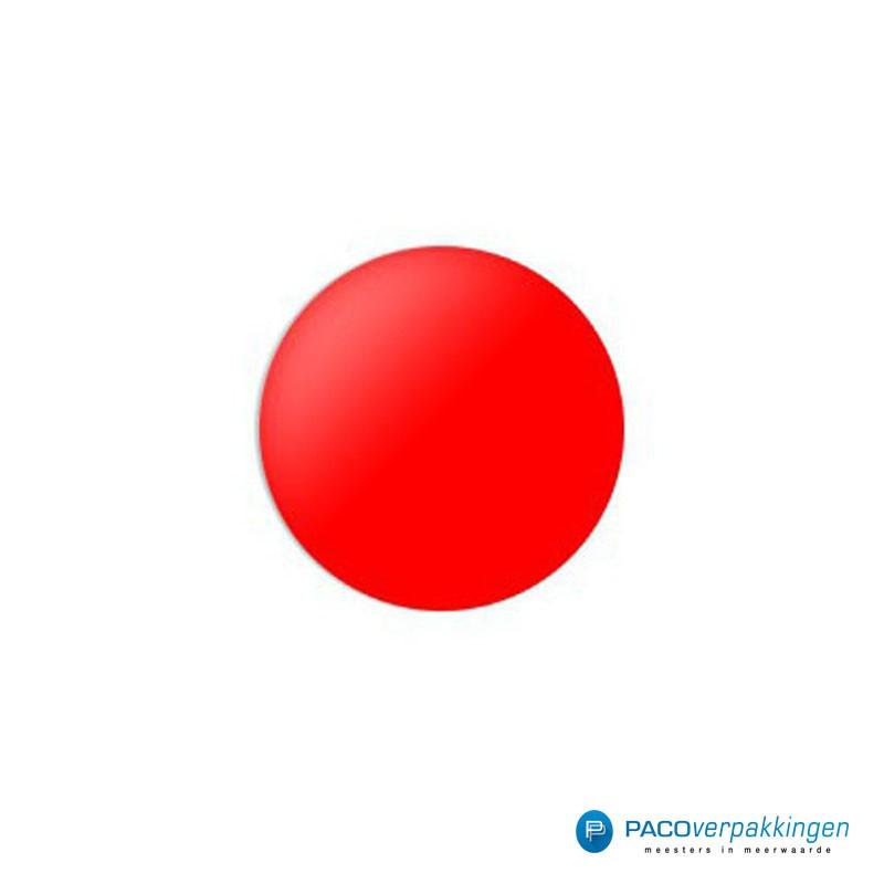 Stickers rond - Rood - Vooraanzicht