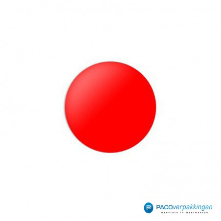 Stickers rond - Rood Glans
