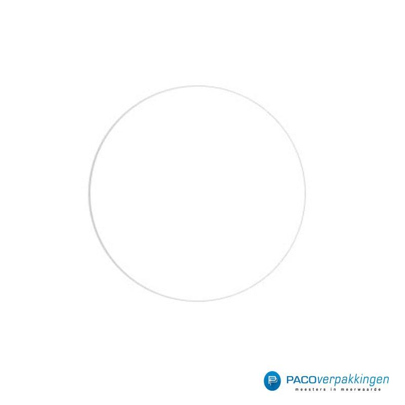 Stickers rond - Wit - Vooraanzicht
