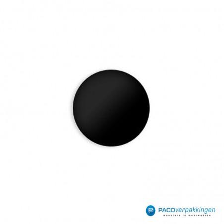 Stickers rond - Zwart Mat