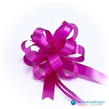 Plakdecoratie - Trekstrik - Roze