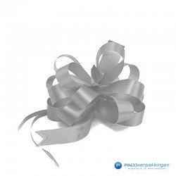 Plakdecoratie - Trekstrik - Zilver - Vooraanzicht