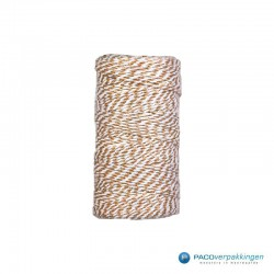 Katoen touw - Bruin/Wit - Vooraanzicht