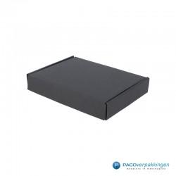 Brievenbusdozen - A6 - Zwart mat (voor Luxe Magneet Brievenbusdoos) - Zijaanzicht