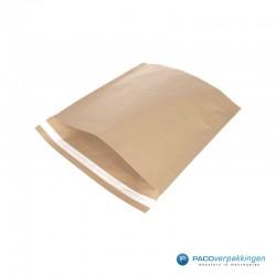 Papieren verzendzakken - Bruin - Zijaanzicht