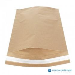 Papieren verzendzakken - Bruin - Vooraanzicht