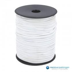 Keperband Katoen - Inpaklint - Elastisch - Wit - Vooraanzicht
