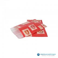 Papieren zakjes - Sinterklaas - Goud op rood - Outlet - vooraanzicht