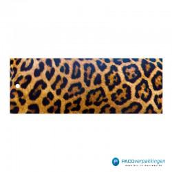 Cadeaulabels - Luipaard - Oranje en zwart glans - Vooraanzicht