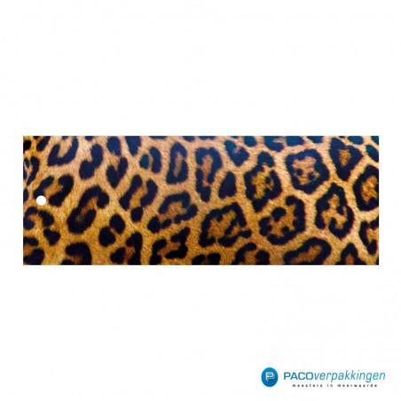 Cadeaulabels - Luipaard - Oranje en zwart glans