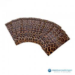 Cadeaulabels - Luipaard - Oranje en zwart glans - collectie