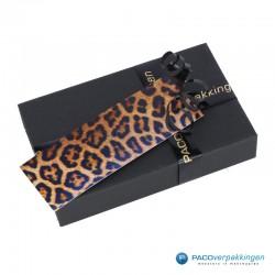 Cadeaulabels - Luipaard - Oranje en zwart glans - Toepassing kleine geschenkdoos