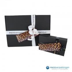 Cadeaulabels - Luipaard - Oranje en zwart glans - Toepassing kleine en grote geschenkdoos