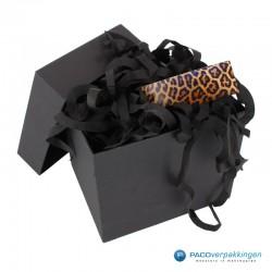 Cadeaulabels - Luipaard - Oranje en zwart glans - toepassing verpakking
