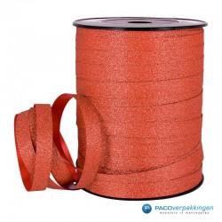 Krullint - Rood glitter - vooraanzicht