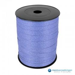 Krullint - Licht blauw glitter - bovenaanzicht