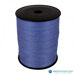Krullint - Blauw glitter - bovenaanzicht