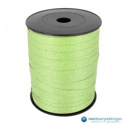 Krullint - Groen glitter - bovenaanzicht