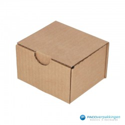 Postdozen met klepsluiting - Bruin - Enkelgolf - Basic - 6658 - zijaanzicht dicht