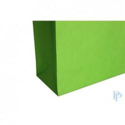 Papieren draagtassen - Appelgroen - Gedraaide handgreep - Detail