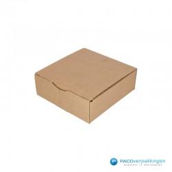 Postdozen met klepsluiting - Bruin - Enkelgolf - Basic - 6667 - zijaanzicht dicht