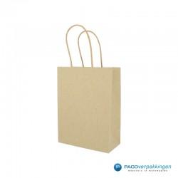 Papieren draagtassen - Kraft bruin - Recycle - 7423 -  Zijaanzicht Hoofdafbeelding
