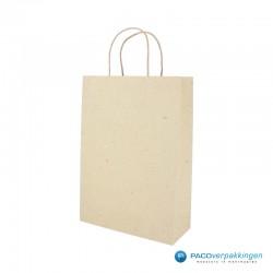Papieren draagtassen - Kraft bruin - Recycle - 7425 - Zijaanzicht - Hoofdafbeelding