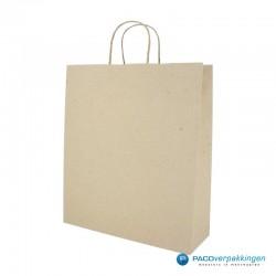 Papieren draagtassen - Kraft bruin - Recycle - 7426 - Zijaanzicht - Hoofdafbeelding