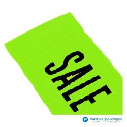Kleding labels - Groen - Sale - Textiel - Detail