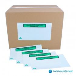 Paklijst enveloppen - Bedrukt A4 in 3 gevouwen - Gebruik