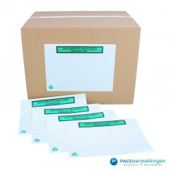 Paklijst enveloppen - Bedrukt A4 in 2 gevouwen - Gebruik