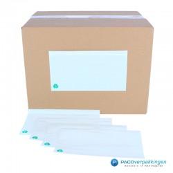 Paklijst enveloppen - Blanco A4 in 3 gevouwen - Gebruik