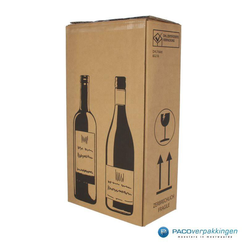 Verzenddoos Wijndoos - 2 flessen - Hoofdafbeelding