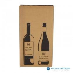 Verzenddoos Wijndoos - 2 flessen - Vooraanzicht