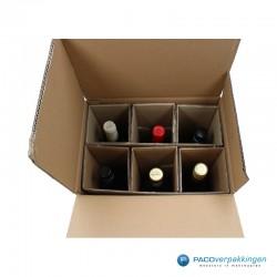 Verzenddoos Wijndoos - 6 flessen - Toepassing