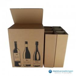 Verzenddoos Wijndoos - 6 flessen - Open 2