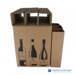 Verzenddoos Wijndoos - 6 flessen - Open