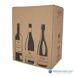 Verzenddoos Wijndoos - 6 flessen - Hoofdafbeelding