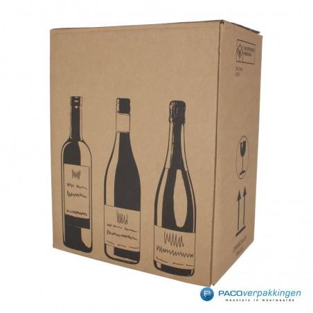 Verzenddoos Wijndoos - 6 flessen