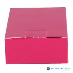 Geschenkdoos met zijsluiting - Fuchsia - Vooraanzicht