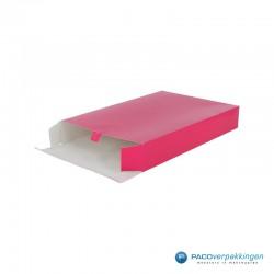 Geschenkdoos met zijsluiting - Fuchsia - Zijaanzicht 1