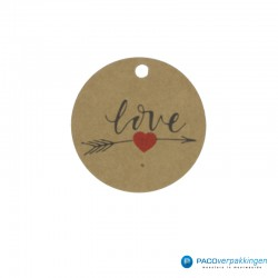 Cadeaulabels - Love - Rood...