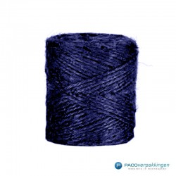 Jute touw - Donker blauw - Vooraanzicht