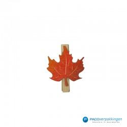 Houten knijper - Blad - Oranje - Vooraanzicht