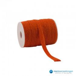 Jute lint - Oranje - Vooraanzicht