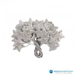 Plakdecoratie - Sterren - Zilver - Vooraanzicht